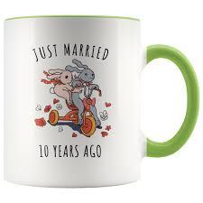 mugs weddings 10th wedding anniversary gift