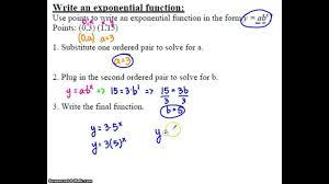 algebra 2 7 2 notes example 2 write an equation