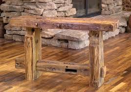 reclaimed barn wood furniture. Rocky Mountain Sofa Table To Reclaimed Barn Wood Furniture