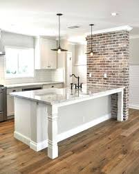 interesting grey wall paint minimalist grey wall paint color and brick effect wall tiles combination for kitchen design ideas using wooden floor and
