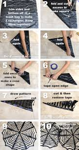 DIY Trash Bag Spiderwebs-- These look awesome in a window! So easy and