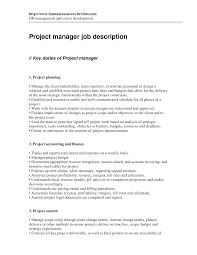 Project Manager Job Description For Resume Project Manager Job Description For Resume Resume For Study 1