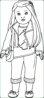American Girl Doll Coloring Page Girl Coloring Doll Coloring Page