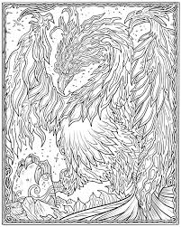Mystical Dragon Coloring Pages Mystical Dragon Coloring Pages