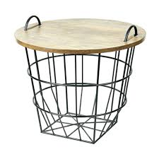 side table basket side table gracefulness with storage baskets