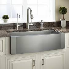 Farmhouse Apron Kitchen Sinks 36 Optimum Stainless Steel Farmhouse Sink Wave Apron Kitchen