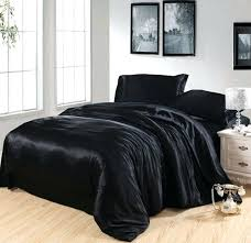 quilt duvet cover black silk bedding set satin cal king size queen fitted sheets bed in quilt duvet cover