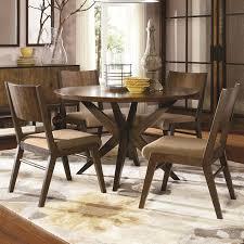 Elegant 5 Piece Rectangle Wood Kitchen Table Set In Espresso Along ...