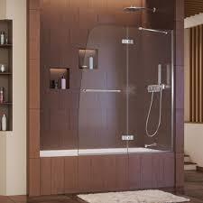 tub shower doors. Aqua Ultra 48-inch X 58-inch Semi-Frameless Pivot Tub/Shower Tub Shower Doors B