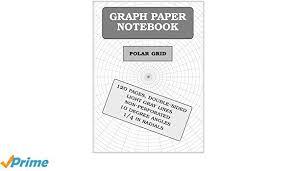 Amazon Com Graph Paper Notebook Polar Grid 120 Pages