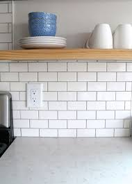 Catchy White Subway Tile Backsplash 17 Best Ideas About White Subway Tile  Backsplash On Pinterest