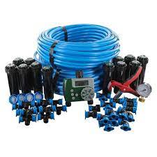 sprinkler system with hose faucet timer
