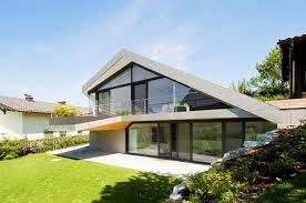 view in gallery slope roof house with futuristic interiors framing the landscape thumb 630x417 13608 slope roof house with