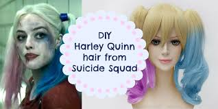 diy harley quinn hair with kool aid
