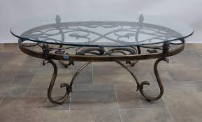 glass coffee table wrought iron legs ideas and outdoor base with size 1600