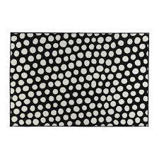 black and white polka dot rug from ikea
