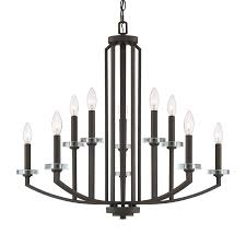 quoizel transit 10 light old bronze modern contemporary candle chandelier
