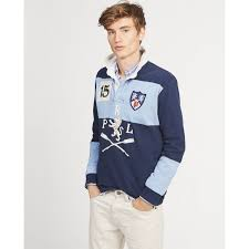 ralph lauren man clothing classic fit cotton rugby shirts newport navy austin blue