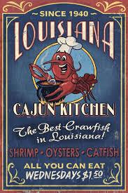 Attractive Amazon.com: Louisiana   Cajun Kitchen Crawfish Vintage Sign (12x18  Collectible Art Print, Wall Decor Travel Poster): Posters U0026 Prints