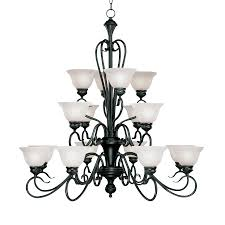 millennium lighting devonshire 39 in 16 light matte black wrought iron alabaster glass tiered