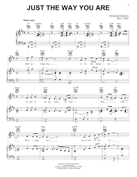 Billy Joel Bb T Field Seating Chart Billy Joel Just The Way You Are Sheet Music Notes Chords Download Printable Piano Solo Sku 164328