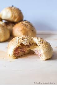 Cheddar And Ham Filled Bread Rolls