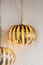 daphnie gold pendant light by