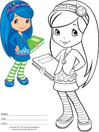 Small Picture Strawberry Shortcake Coloring Pages to Print Blueberry Muffin