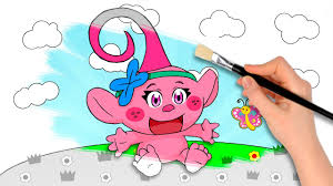 Baby Trolls Poppy Coloring Book Pages