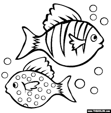 Small Picture Two Fish Coloring Page Free Two Fish Online Coloring