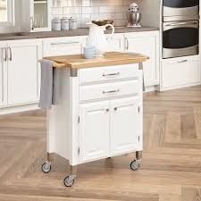 Home Styles Dolly Madison Prep Serve Kitchen Cart White Hayneedle