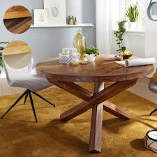 Finebuy Design Esszimmertisch Rund ø 120 Cm X 75 Cm Massiv Holz