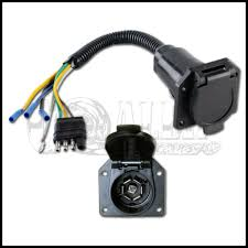 Trailer Light Plug Wiring Details About 4 Wire Flat To 7 Way Converter Adapter Rv Trailer Light Plug Custom Wire Harness