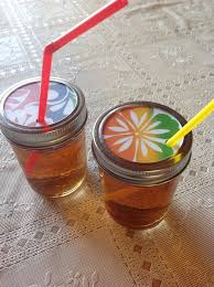 Mason Jars With Decorative Lids How to Make Decorative Drink Lids for Canning Jars Snapguide 35