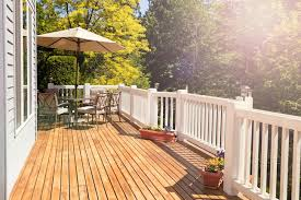 wood deck or cement patio