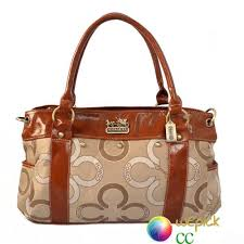 Coach Waverly Big C Logo Large Khaki Satchels