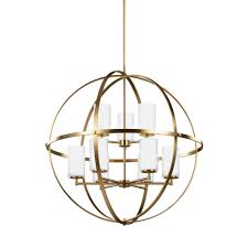 sea gull lighting alturas 32 5 in w 9 light satin bronze chandelier