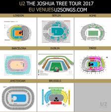 U2 Seattle Seating Chart U2songs U2 The Joshua Tree Tour 2017 Questions And Answers