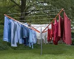 Umbrella Drying Rack Best Outdoor Umbrella Clothesline Two sizes Made in USA 11