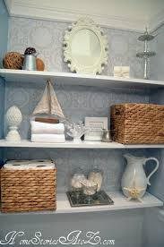 cottage bathroom storage cabinet dream decorative wall shelves
