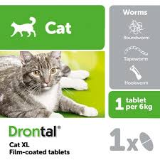 Drontal Feline Dosage Chart Drontal Xl Worming Tablet For Cats