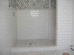 white subway tile shower install