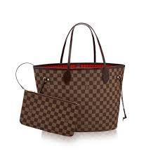 louis vuitton neverfull white. women\u0027s luxury christmas gift - neverfull mm damier ebene canvas women handbags | louis vuitton louis vuitton white