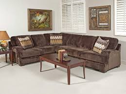 Serta Living Room Furniture Olympian Chocolate Brown Sectional By Serta Upholstery My