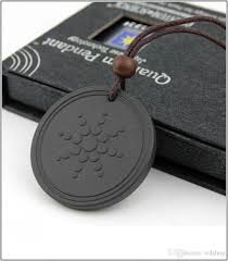 2019 quantum pendant energy necklace for anti emf radiation protection pendant reverse aging joint pain blood circulation 2000 negative ions from wd
