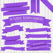 Purple Ribbon Banner Classic Ribbon Banner Clipart In Purple