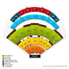 Dailys Place Amphitheater 2019 Seating Chart