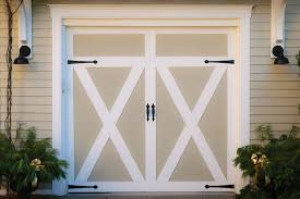 free upgrade to a carriage house door for swing out garage doors