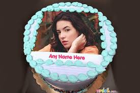 birthday cake with name and photo free