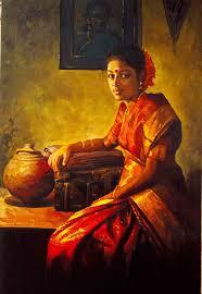 indian painting tamil woman ilayaraja 6